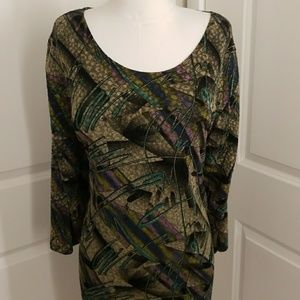 Black Multicolored Geometric Maggie Barnes Tunic